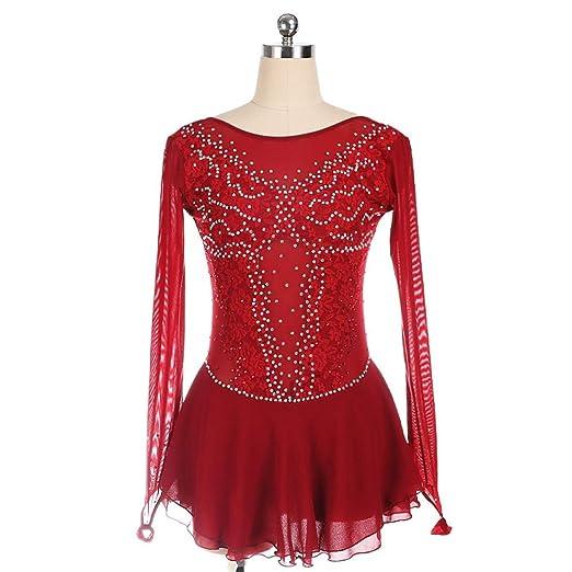 LYABANG Vestido De Patinaje Artístico Mujer Maillot De Danza ...