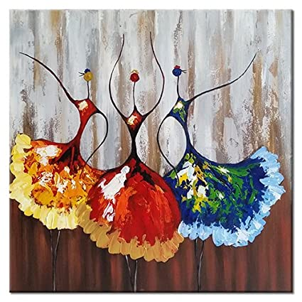 Amazon Com Wieco Art Ballet Dancers Abstract People Oil Paintings