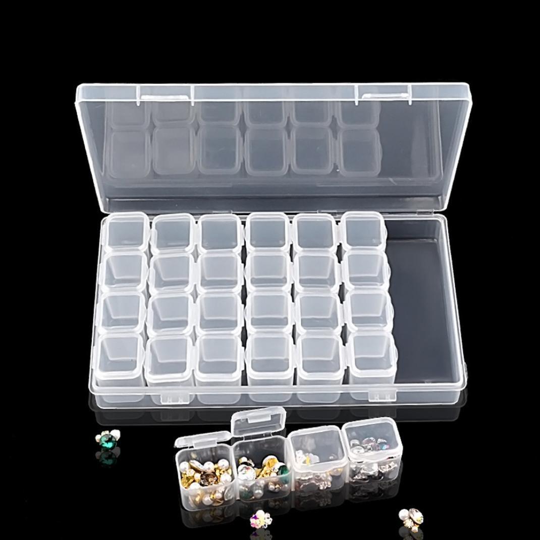 bescita 1 pieza 28 Lattice plá stico Uñ as decoraciones de herramientas caso caja de almacenamiento de vací o