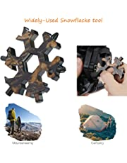 18-in-1 Snowflake Multitool, Stainless Portable Steel Multi-Tool for Outdoor Travel Camping Adventure Daily Tool (Camo)