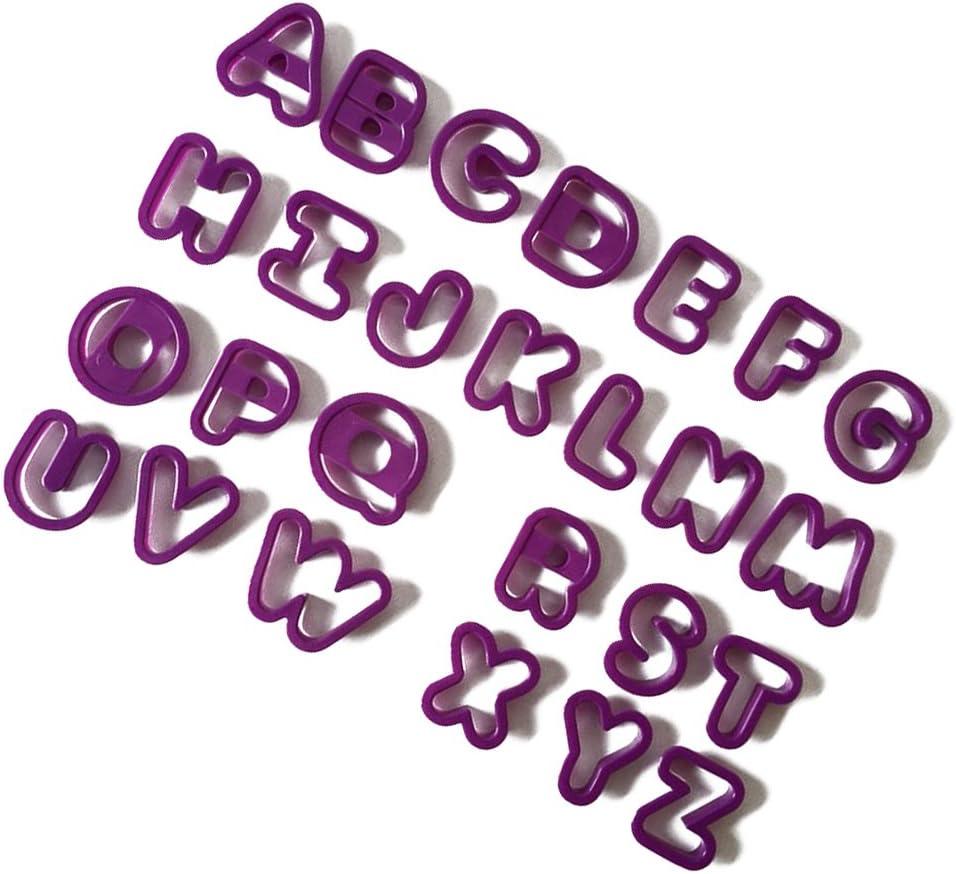 Lila TOYMYTOY Buchstaben Ausstecher Ausstechformen f/ür Keks Pl/ätzchen Tortendekorationen 26 St/ücke