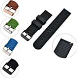 XiangMi Silicone Watch Band Quick Release Soft Rubber Strap - Waterproof Textured Tire Pattern - Choice of Colors, 18, 20 & 22mm Watch Strap for Womens Mens Watch