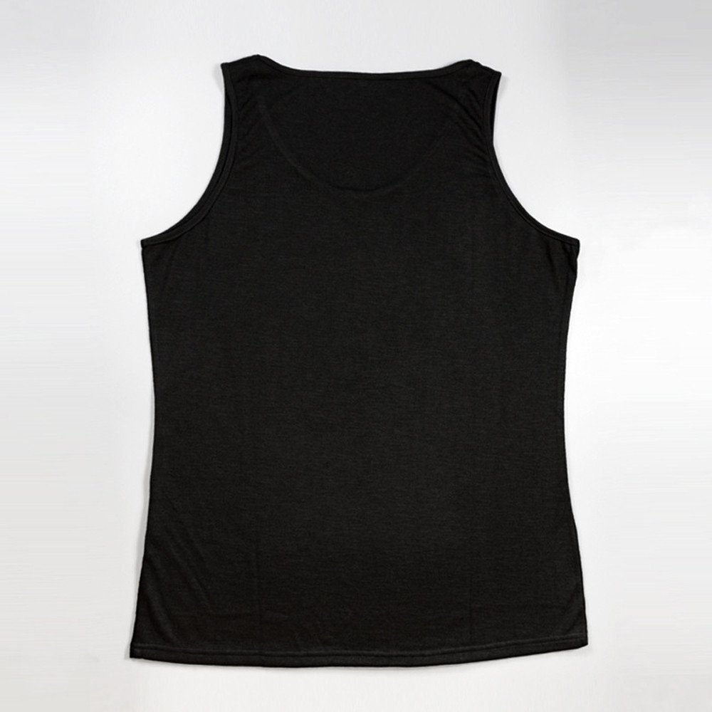 WUAI Mens Workout Tank Tops Fashion Muscle Gym Pullover Fitness Sleeveless T-Shirts Vest(Black,US Size L = Tag XL) by WUAI (Image #4)