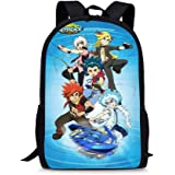 Bey-blade Kinomiya Takao Kids Backpack Book Bag Rucksack -Lightweight School Bags with Lunch Bags for Student Men Women