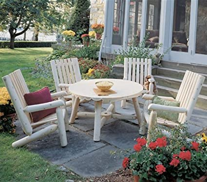 Rustic Cedar - Outdoor High Back Patio Dining Set - Amazon.com : Rustic Cedar - Outdoor High Back Patio Dining Set