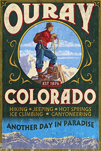 Ouray, Colorado - Vintage Sign Art Print, Wall Decor Travel Poster