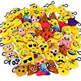 Dreampark Emotion Keychain Mini Cute Plush Pillows, Party Favors for Kids Christmas / Birthday Party Supplies, Emoticon Gifts Toys Carnival Prizes for Kids School Classroom Rewards