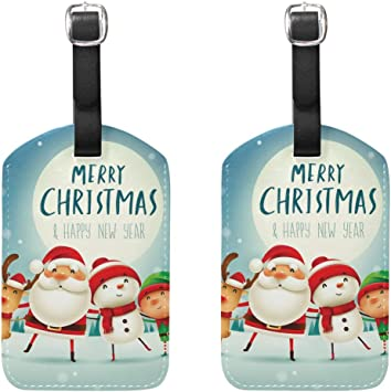Christmas Time Nutcracker Sweet Luggage Tags with Full Privacy Cover Stainless Steel Loop for Travel Bag Suitcase