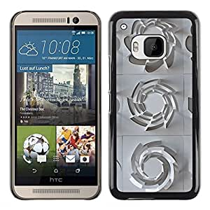 Exotic-Star ( 3D Pattern Art White Clean Plastic ) Fundas Cover Cubre Hard Case Cover para HTC One M9