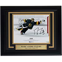 $186 » Marc-Andre Fleury Signed Framed 8x10 Golden Knights Diving Save Photo Fanatics