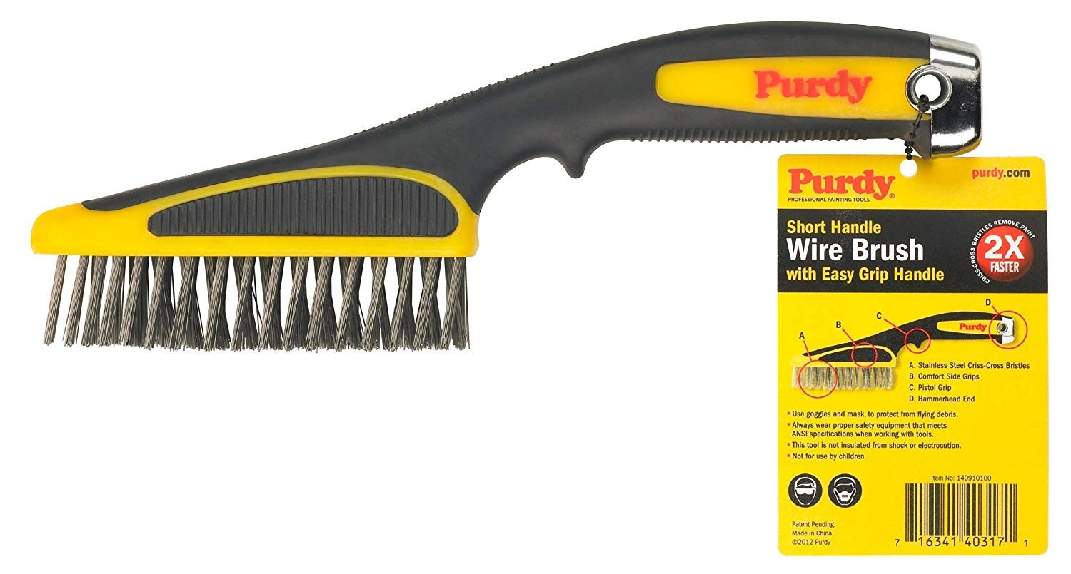 PURDY 140910100 Short Handle Wire Brush 11 inch Sherwin-Williams