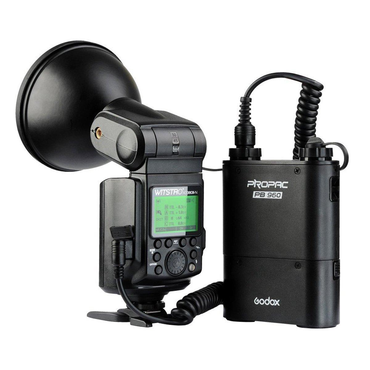 Godox AD360II-N 高出力スピードライトフラッシュ + PB960 4500mAh リチウムイオン電池キット ニコンカメラ用(ブラック)  AD360II-N kit black for Nikon B06XRY4BPN