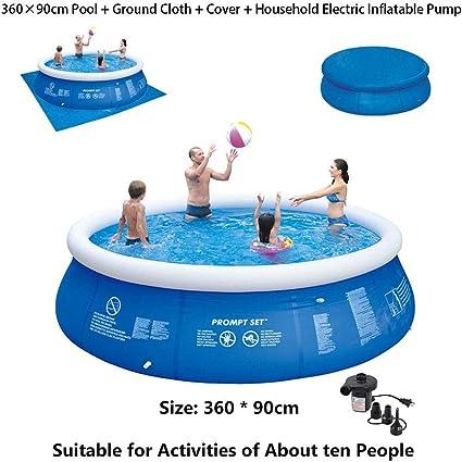 Super11Six 55333 Piscina sobre Suelo portátil, Redonda con Bomba Nadar Piscina, 360 x 90 cm, hasta Ocho Personas,All: Amazon.es: Deportes y aire libre