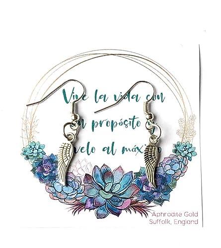 Joyeria Amistad Pendiente Ángel Ala Regalo para el mejor ...