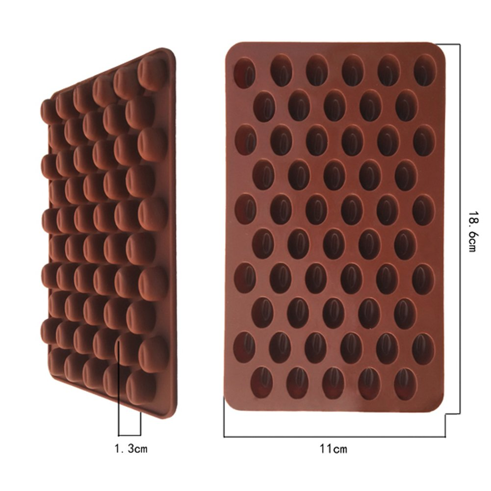 Chocolate Cake Cookie DIY Silicone Moulds Baking Mold 55 Coffee Bean Shaped Begonia
