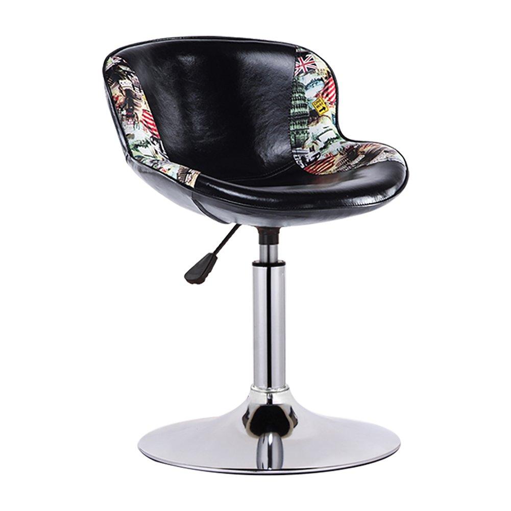 FXJZY ビンテージラウンド産業スタイルの回転チェア人工革の高さ調節可能な回転バーキッチン朝食スツール背もたれの椅子 FXJZY (色 : ブラウン ぶらうん, サイズ さいず : 37-57cm) 37-57cm ブラウン ぶらうん B07R1K5F5G