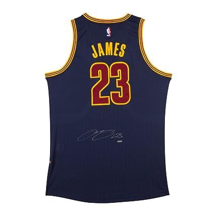 purchase cheap bdea8 2b7ff LeBron James Autographed Cleveland Cavaliers Alternate Blue ...