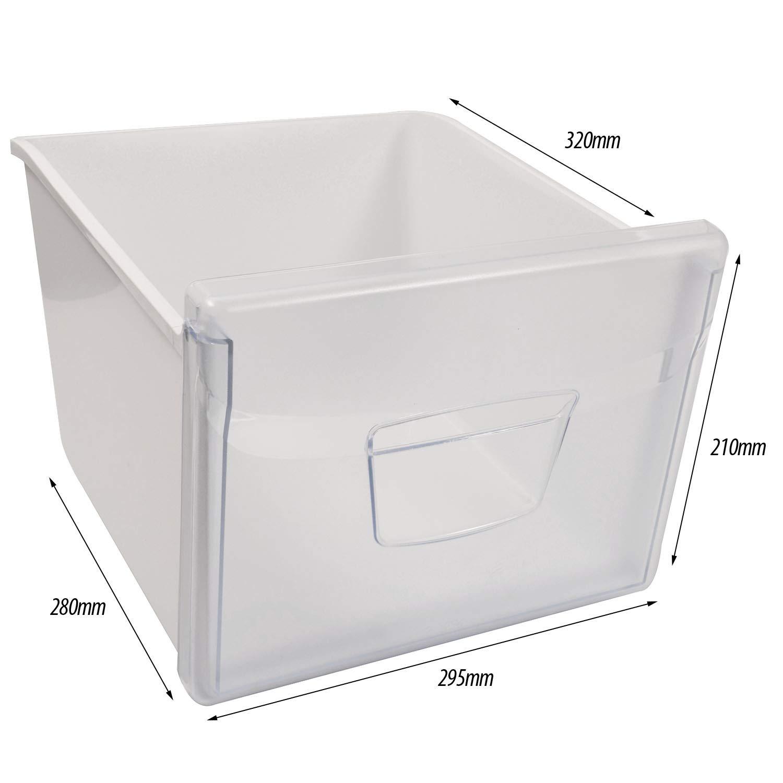 Spares2go - Cajón de ensalada para congelador Indesit (2 unidades ...