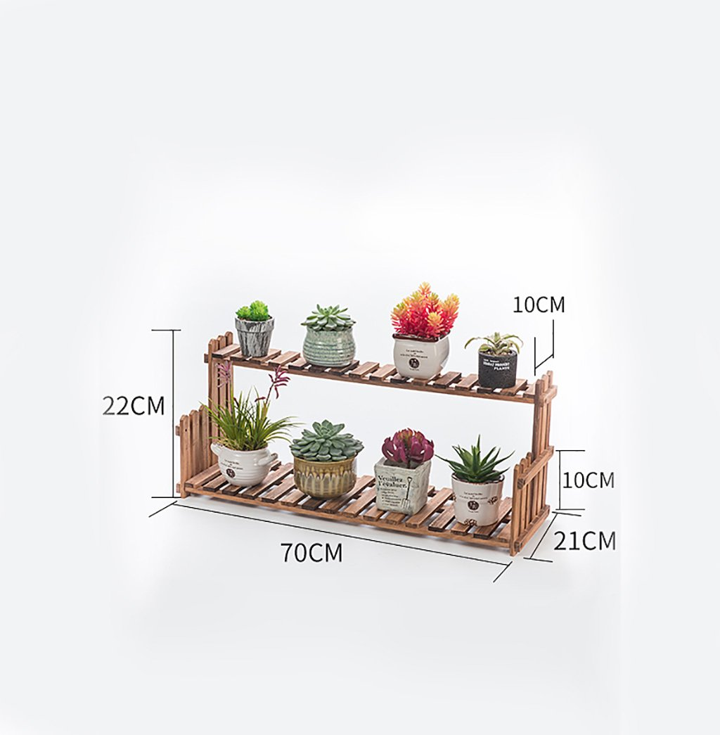 Antiseptic Wood Flower Stand Lightweight Wooden Flower Stand/Indoor / Outdoor Plant Shelf /2F Ladder Stairway/Pots / Plant Flower Display Stand Strong Bearing Capacity (Color : 5)