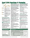 img - for Microsoft Excel 2016 Functions & Formulas Quick Reference Card - Windows Version (4-page Cheat Sheet focusing on examples and context for ... functions and formulas- Laminated Guide) book / textbook / text book