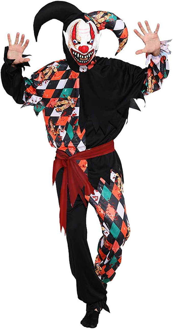 Amazon.com: EraSpooky Halloween adulto malvado Jester ...