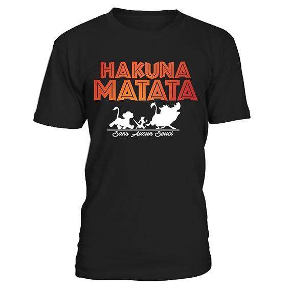 2e32dff050 Closset T-Shirt Col Rond Unisexe - Hakuna Matata - sans ancun souci Small