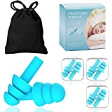 Reusable silicone earplugs-waterproof, hypoallergenic and noise-reducing earplugs for sleep, swimming, snoring noise and…