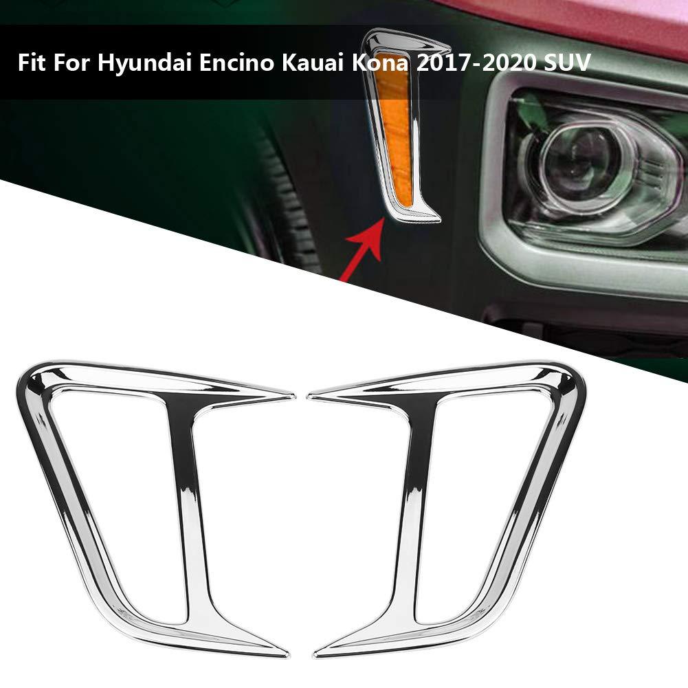 Suuonee Car Light Frame Car Side Light Lamp Cover Frame Frame Trim per Encino Kauai Kona 2017-2020 SUV