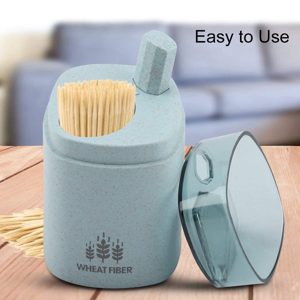 para decoraci/ón de cocina dispensador de palillos de dientes Soporte de palillos de dientes autom/ático para el hogar utensilios de cocina Tama/ño libre azul