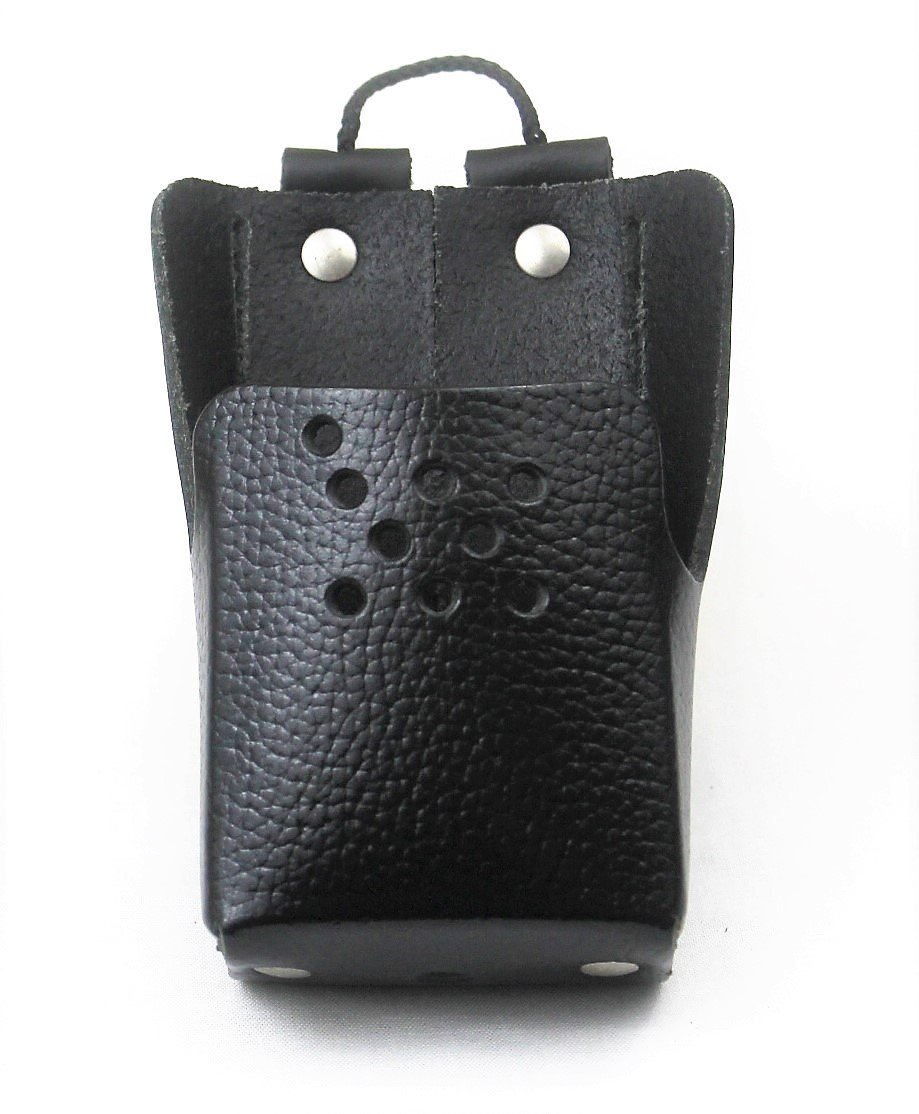 Heavy Duty Leather Case / Holster with Belt Loop for Motorola Radio BPR40 Mag One A8 Pulsat