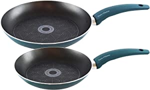 Taste of Home 2-Piece Non-Stick Aluminum Skillets 9.5 and 11-inch
