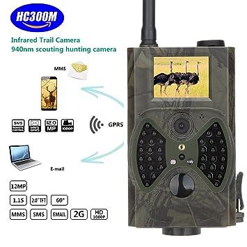 Vida Silvestre Cámara 2.0 pulgadas 12 MP 1080P HD Visión Nocturna por Infrarrojos PIR GSM/