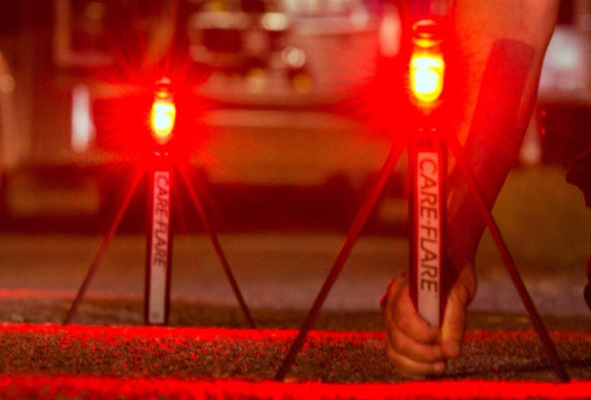 Care Flare LED Safety Flares Emergency Lights Pack of 3 Roadside Warning Car Safety Flare Lights for Vehicles /& Boats