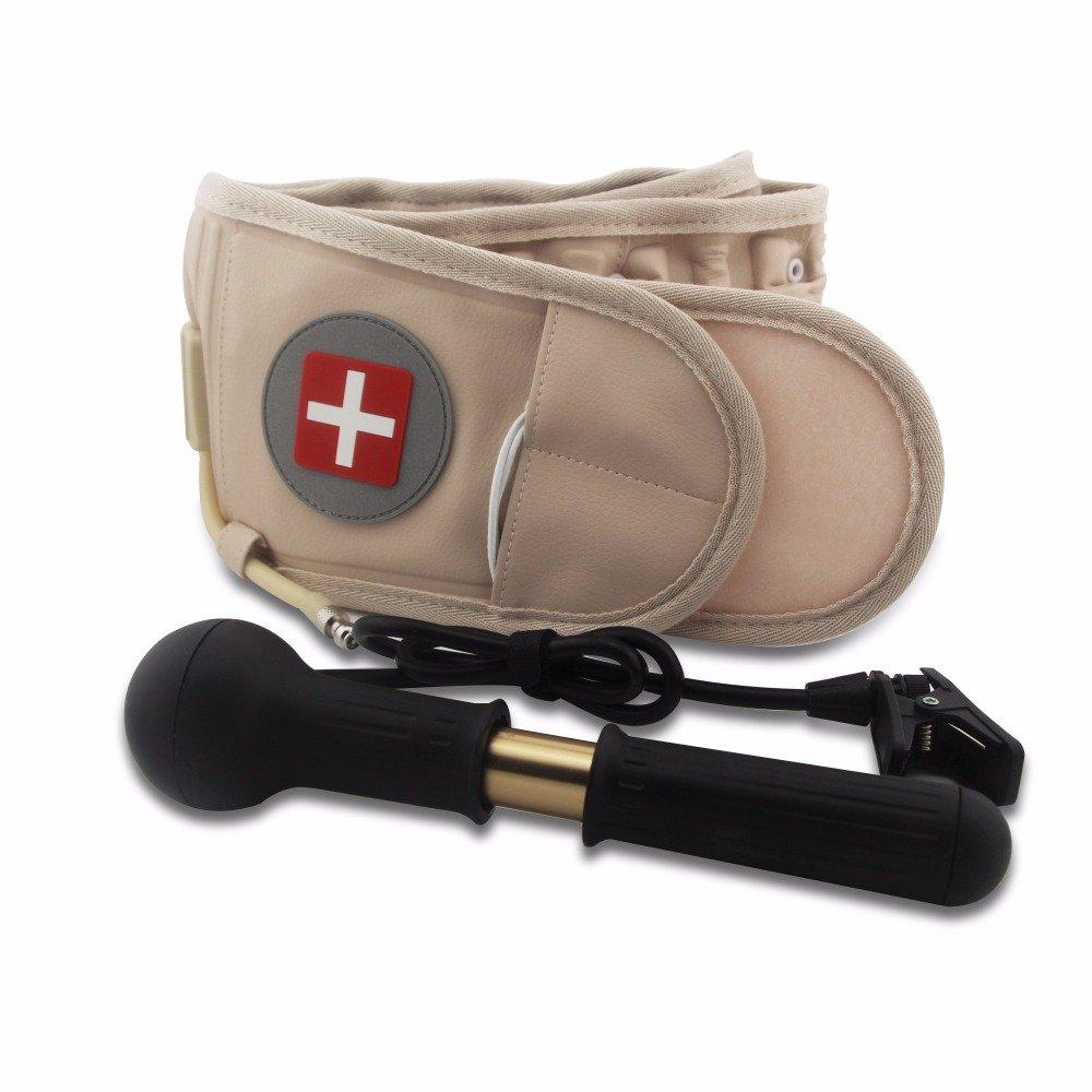 OMZBM Mejorar Descompresión Cinturón Trasero Dispositivo de tracción Lumbar Espalda Dolor Dolor Soporte Lumbar Inferior con cinturón alargador