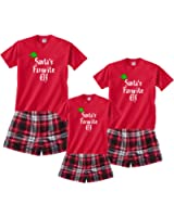 Santa's Favorite Elf Christmas Pajamas for Whole Family Boxer Sets