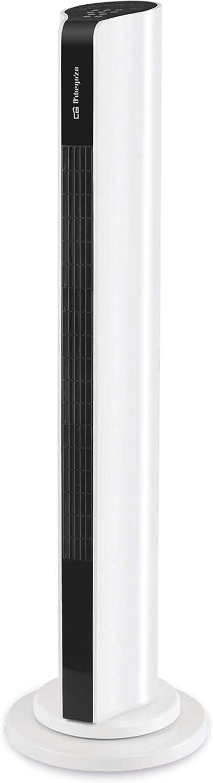 Orbegozo Ventilador de Torre TWM 1000 Oscilante 60º. 3 velocidades de ventilación. Altura 85 cm. Temporizador de 1 a 15 Horas. 3 Modos de ventilación