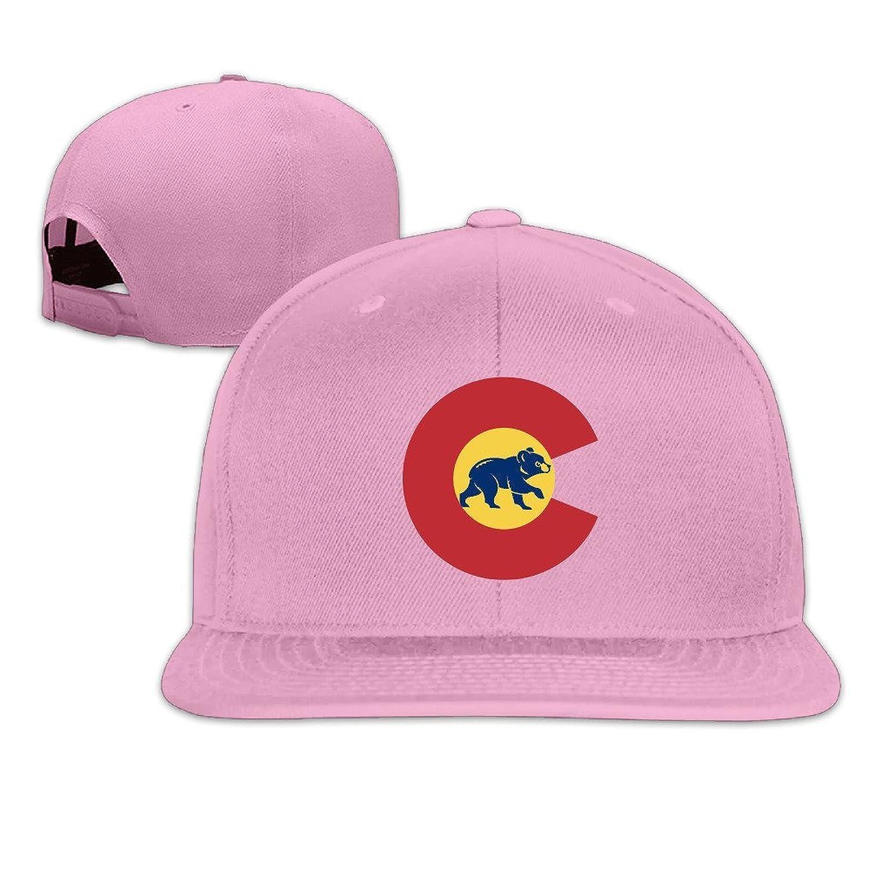Usa Colorado Flag Chicago Bear Adjustable Hats Flat Bill Baseball Hats