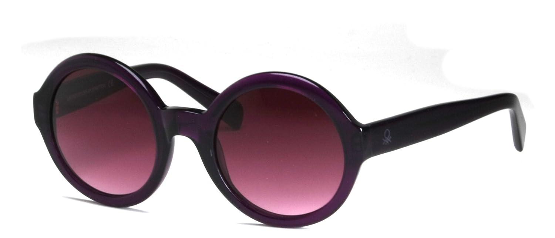 Benetton BE763 - Gafas de sol circulares para mujer, color violeta, índice 3