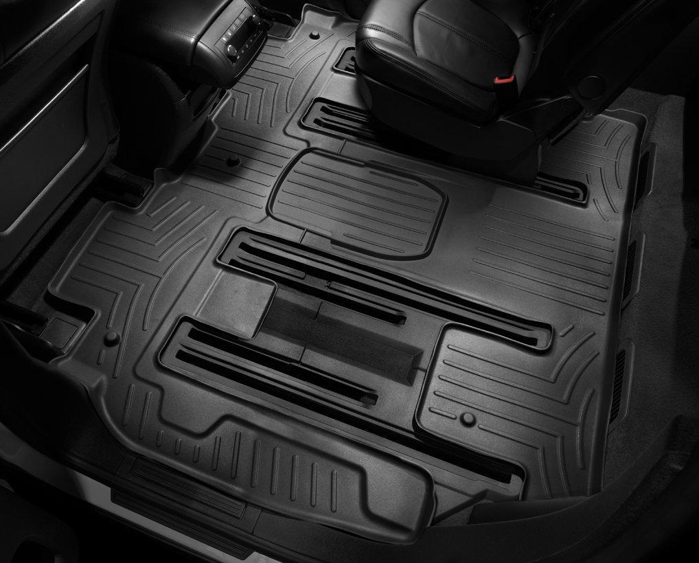 WeatherTech Custom Fit Rear FloorLiner for Select Ford//Mazda//Mercury Models Black