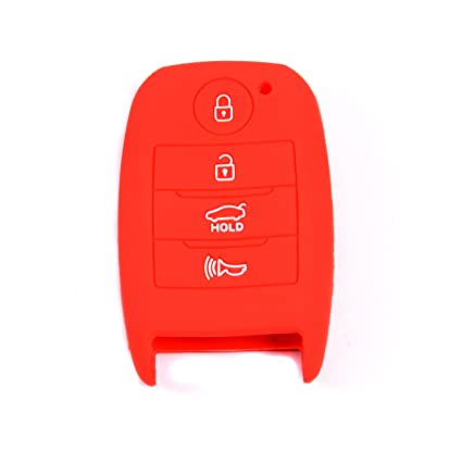 Velsman 4 Buttons Silicone Key FOB Cover Case Protector Key Remote Cover Holder Compatible with KIA Optima K3 Cerato Forte Sorento Rio Rio5 NIRO Soul ...