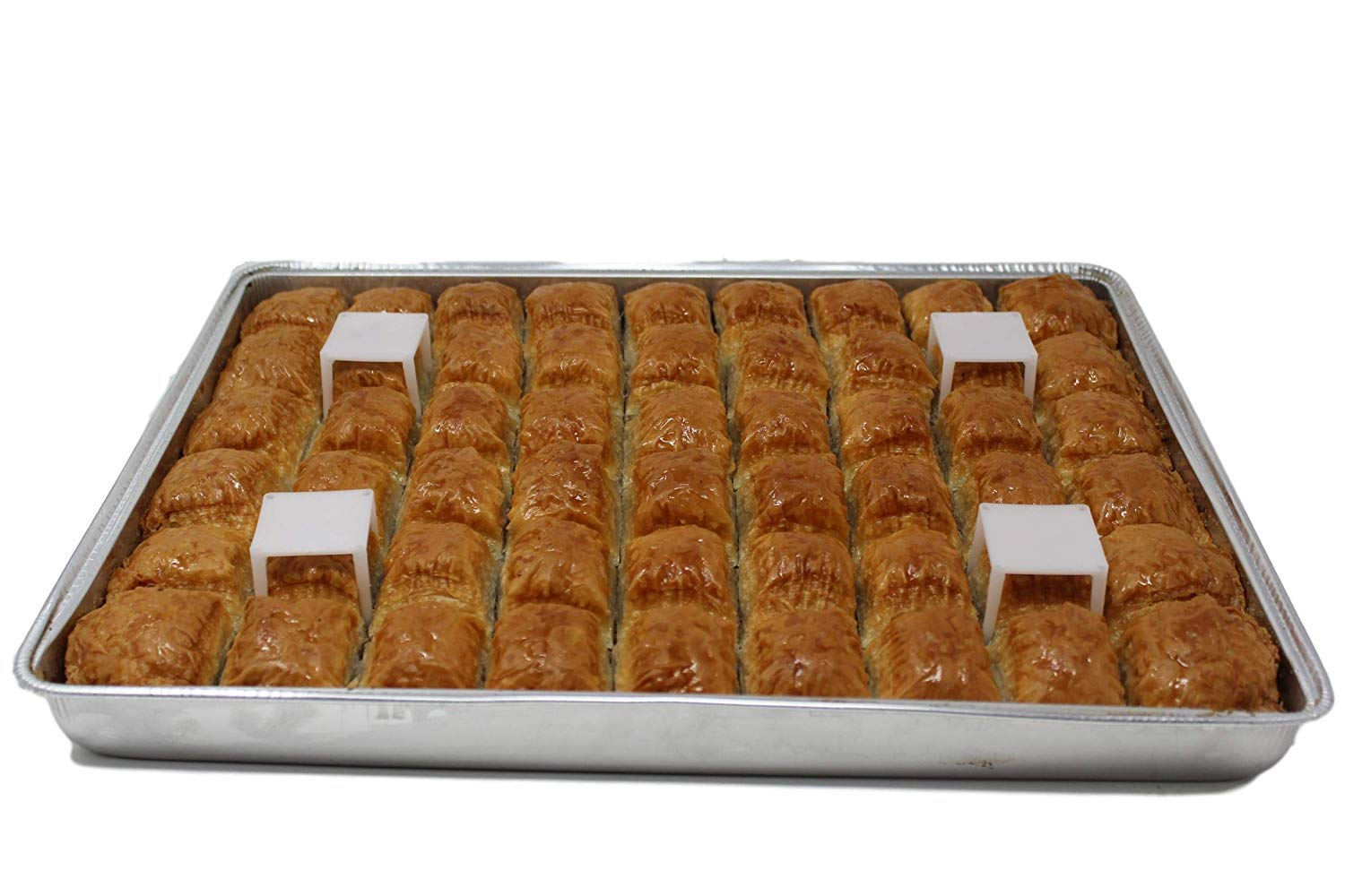 Luxury Baklava with Walnuts Wholesale box Contains 5 Trays, total 33lb Baklava big cut mouthful pieces