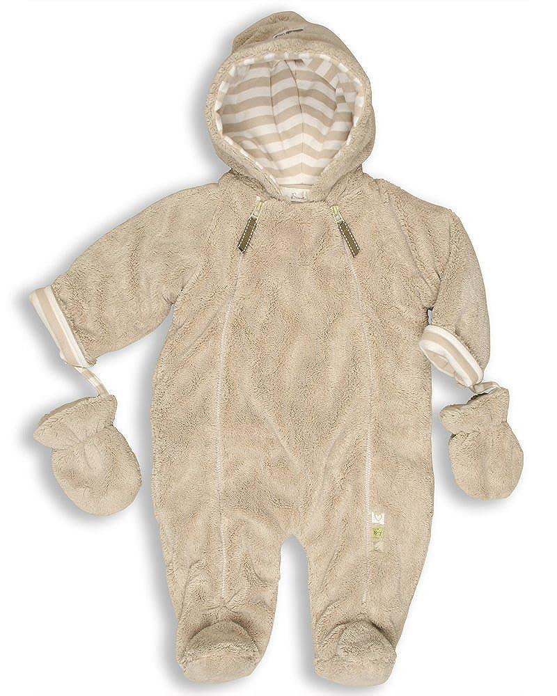 The Essential One - Baby Unisex Luxury Fur Snowsuit/Pramsuit - Beige - EO3