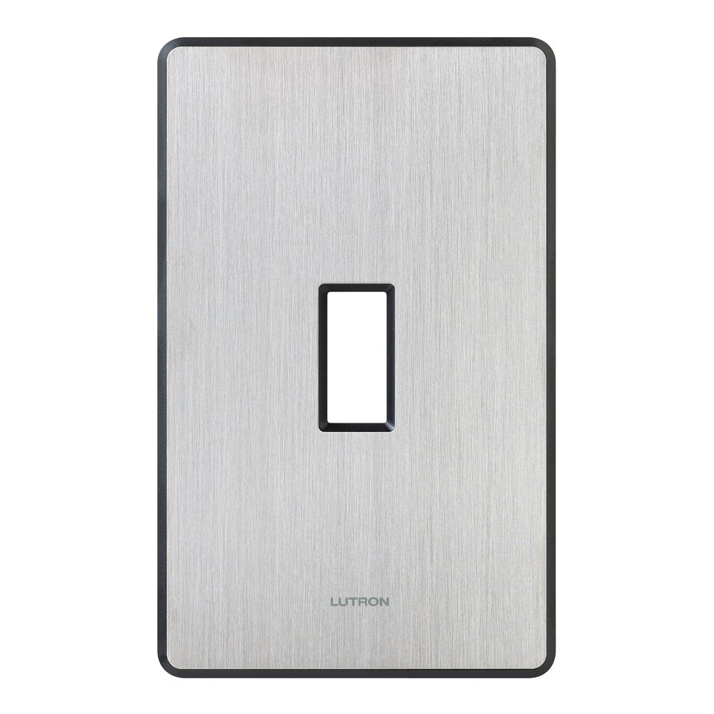 Lutron FW-1-SS Fassada 1-Gang Wall plate, Stainless Steel by Lutron (Image #1)