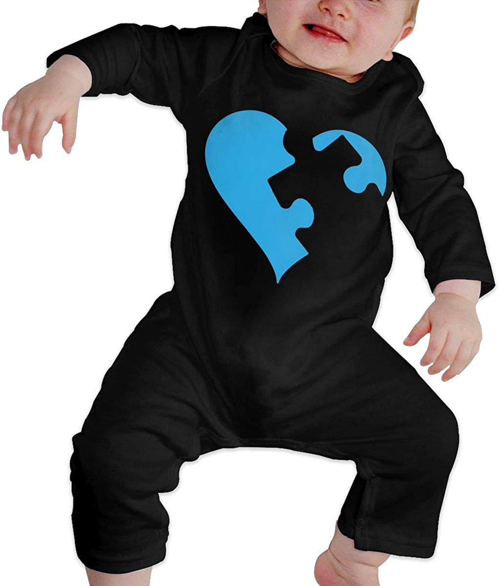 Autism Love Organic One-Piece Bodysuits Coverall Outfits Baby Boys Romper Jumpsuit