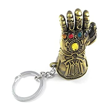 RJM Sales & Service Avengers Infinity War -3 New Series Thanos Gauntlet  Power Stone Marvel Metal Keychain for Car Bike Home (Copper)
