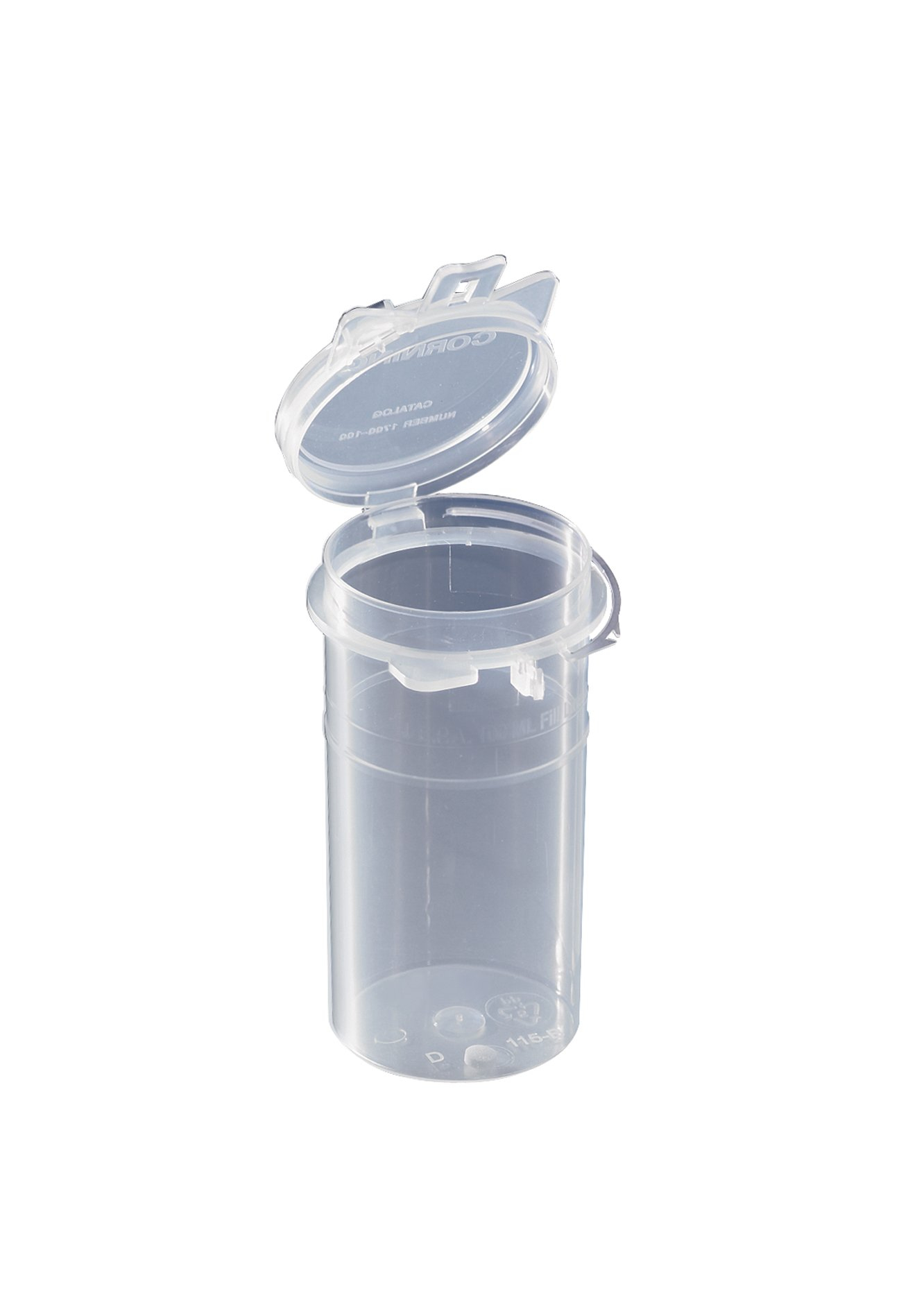 Corning Polypropylene Coliform Wide Mouth Sample Container, Sterile with Sodium Thiosulfate Tablet (Case of 100)