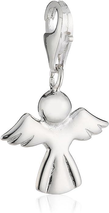 MELINA Charm Anhänger Brille weiß Emaille  Hippie Silber 925