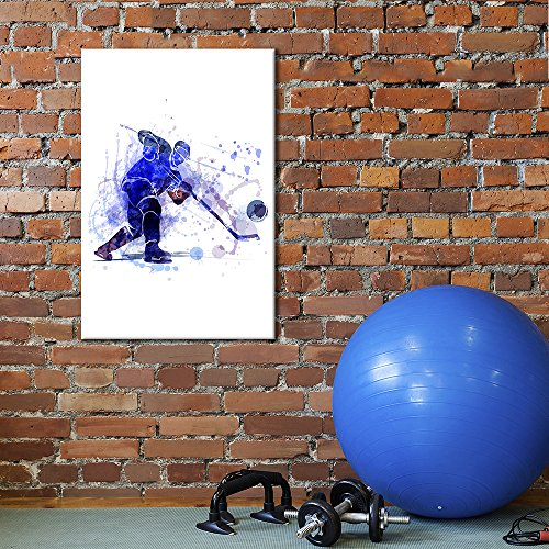 Sports Theme Man Playing Hockey