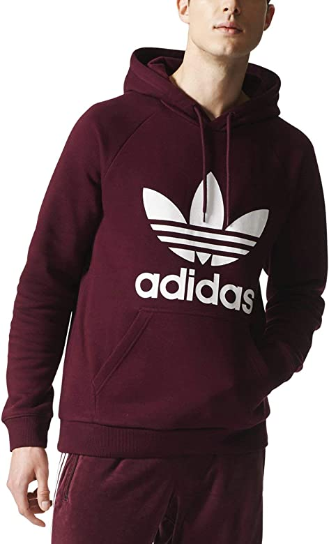 Adidas Trefoil Hoodie Maroon