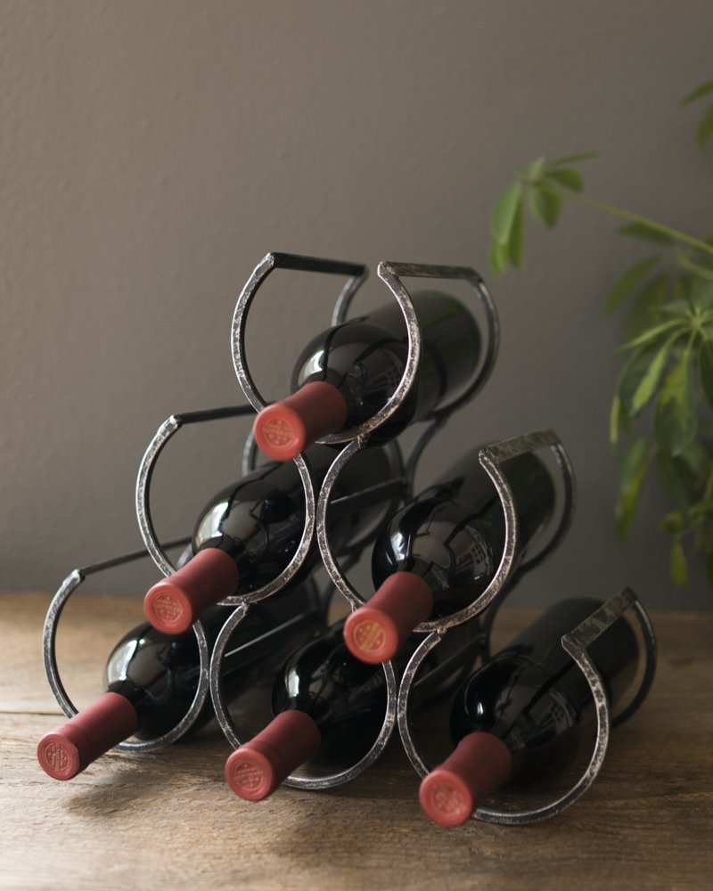 Country Home Wine Shrine by Twine – 6 Bottle Free Standing Metal Wine Rack by Twine (Image #4)